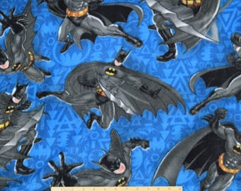 FLEECE Batman Fabric Enemy Number One From David Textiles