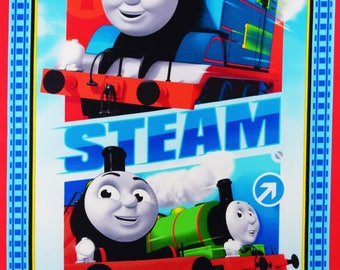 Thomas the Train Fabric Panel Steam Team Express Fabric From Quilting Treasures 100% Cotton