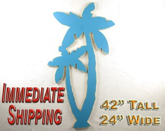 Palm Tree Decor Beach Wall Art Large Hawaii Decorating Large Beach Wall Art Palm Beach Decor Tropical Art Decor Palm Tree READY TO SHIP