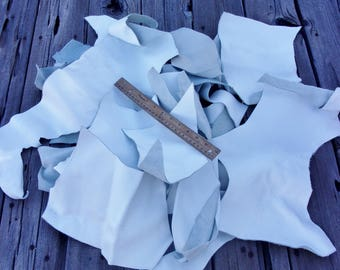 Soft white leather scraps, Leather remnants, Craft leather scraps, Soft leather scraps , for diy projects