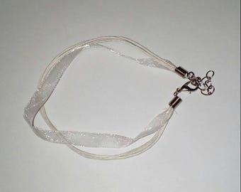 X 1 Bracelet organza and coton 21cm