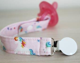 Unicorn Pacifier clip, Pacifier clip girl, Soothie pacifier clip, Dummy clip, Pacifier holder, Baby girl pacifier, Binky Clips, Paci Clip