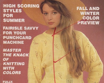 Knitting Magazine Fashion Knitting number 48 knitting with colors 23 designs women men May 1990