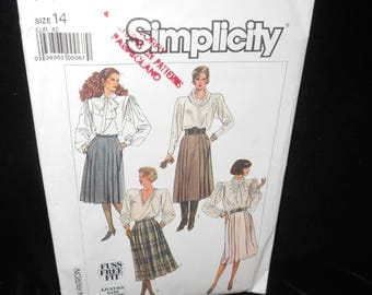 Misses Skirt Simplicity 7814 Womens Skirt 2 lengths Size 14 Sewing Pattern