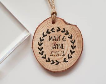 Wedding Rubber Stamp with Names and Date