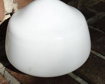 "Milk Glass GLOBE SHAPE SHADE 4"" Fitter Dia White Glass Light Lighting Parts"