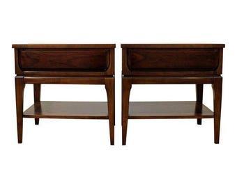 Mid-Century Nightstands Danish Modern Walnut Nightstands/End Tables #21
