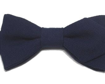Navy Blue bowtie with sharp edges