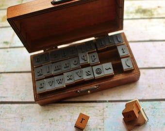 Alphabet stamps,