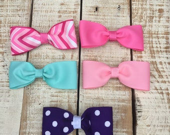 SALE Hair Bows - Set of 5 hairbows