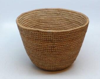 Mission Indian Basket - Antique Indian Basket - Native American Basket - California Native American Basket