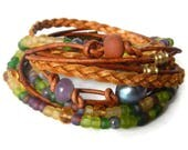 Boho Wrap Bracelet, Leather Wrap Bracelet, Leather Wrap, Beaded Wrap, Leather Bracelet, Wrap Leather Bracelet JEWELRY