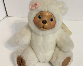 Raikes Bears Robert Raikes Girl Nursery Minature White Bear