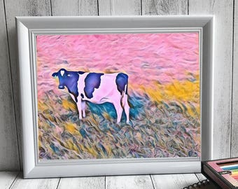 Digital Artwork Print - Wallalong Walk Series: The Lonely Cow