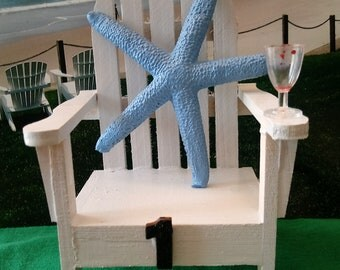 Beach Wedding Table Numbers - Adirondack Chairs - FREE SHIPPING - Minimum order 2