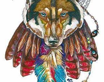 Moon Wolf-Native American power animal
