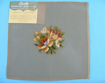 Preworked Floral Needlepoint Canvas #2
