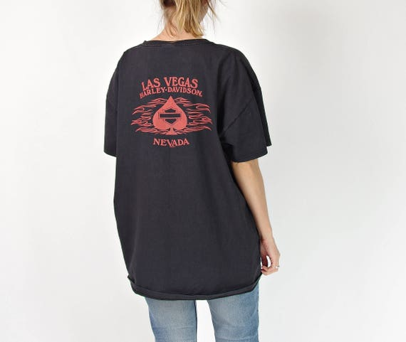 SALE! Harley Davidson Las Vegas Nevada oversized distressed biker t-shirt / size 2XL