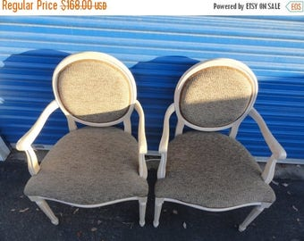 35% Off Summer Sale Sale Pair of French Round Back Chairs Like New