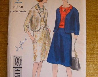 """41% OFF Mid Century Vogue Special Design Uncut Sewing Pattern 5617 Jacket / Two Piece Dress / Suit Size 14 Bust 34"""""""