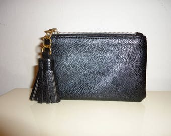 Must See Vintage Black Leather Coin Purse