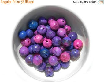 HALF PRICE 10 Faceted Purple Pink Beads - 8mm