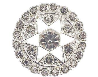 Star brilliant diamond 28 mm rhinestone button