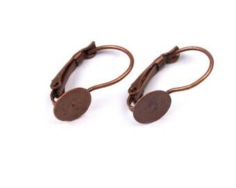 4 holder clips earrings copper earrings
