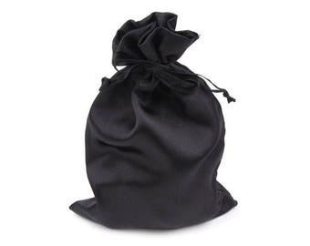 3 bag bag satin 11 x 17 cm black