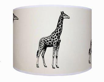 lamp shade ceiling light pendant light giraffe shade drum lampshade lighting - Giraffe Lamp