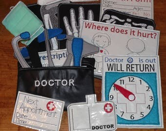 Doctor Play Set Individual Pieces - X Ray Health Card - Medical Bag - Doctor Tools - Toy Doctor Bag Kit - Surgeon Mask -