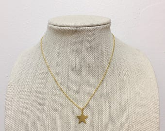 Gold Star Charm Necklace • Simple Necklace • Layering Necklace