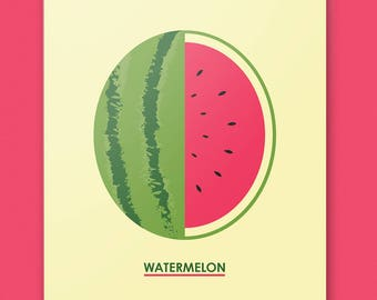 WATERMELON - 11 by 14 Fruity Art Print