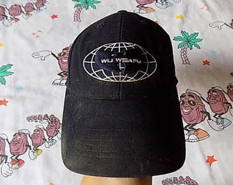 Vintage 90's Wu Wear wool Fitted Hat, Adult Size Small 6 3/4-7 low profile Wu-Tang Clan hip hop