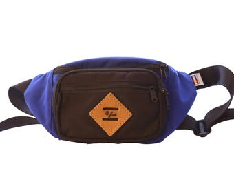 The Mountaineer Fanny Pack Bum Bag- Blue/Black