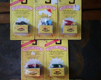 Matchbox Originals Authentic Recreations Of Matchbox Early Vehicles Set Of Five
