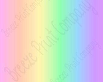 Pastel rainbow Ombre print craft vinyl sheet - HTV or Adhesive Vinyl -  fade gradient print vinyl spring colors HTV3122