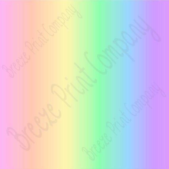Pastel Rainbow Ombre Print Heat Transfer Or Adhesive Vinyl