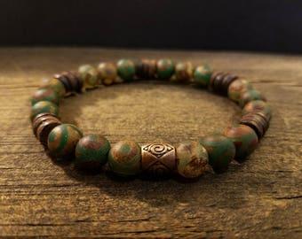 Boho Bracelet, size 6 1/4, Stretch Bracelet, Gemstone Bracelet