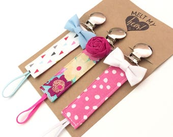 Pacifier Clips - Maxine Collection