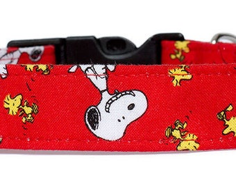 Noddy & Sweets Adjustable Clasp Collar with Charm [Snoopy Oh Joy! Red]