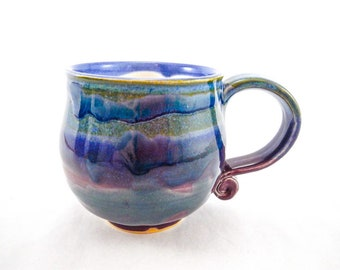 Round Colorful Handmade Mug