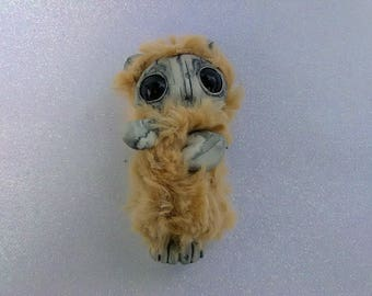 Cute Fuzzy Creature Sculpture