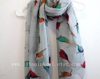 Blanket Scarf - Navy Burgundy Red - Plaid Blanket Scarf