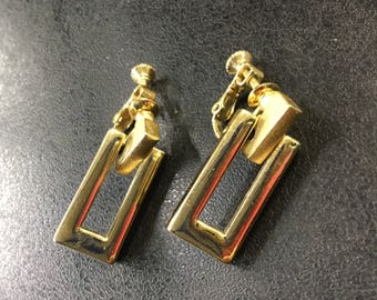 Napier gold plated clip on earrings