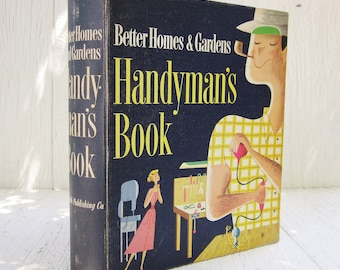 Vintage Handyman Book, Better Homes and Gardens Handyman's Book, 1950's Collectible Binder Book, Gift for Him, Man Cave, Home Improvement