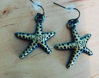 Wish starfish earrings