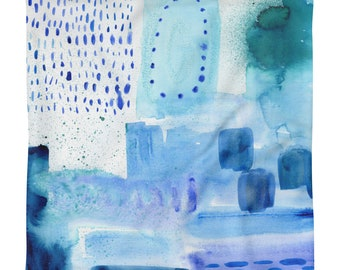 Blue Watercolor, Pillow Case Only