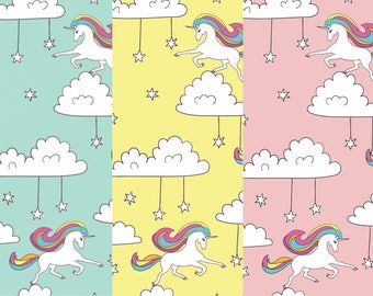 Rainbow Unicorn Fabric - Quirky