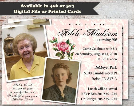 Milestone birthday party invitations 90th birthday invitations il570xn filmwisefo